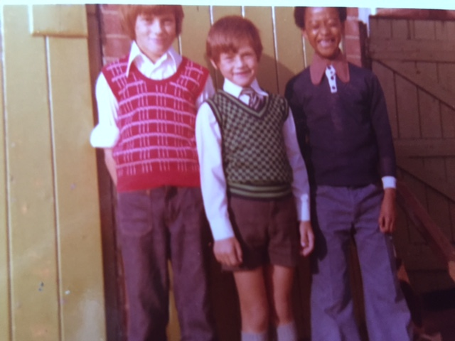 Gary Dobbs, owner of GD Print, with brother Paul and friend Fitzeroy when they were children