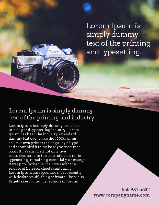 Business Brochure Printing - sample brochure for customising