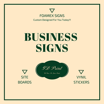 Order Business Signs printed for bournemouth