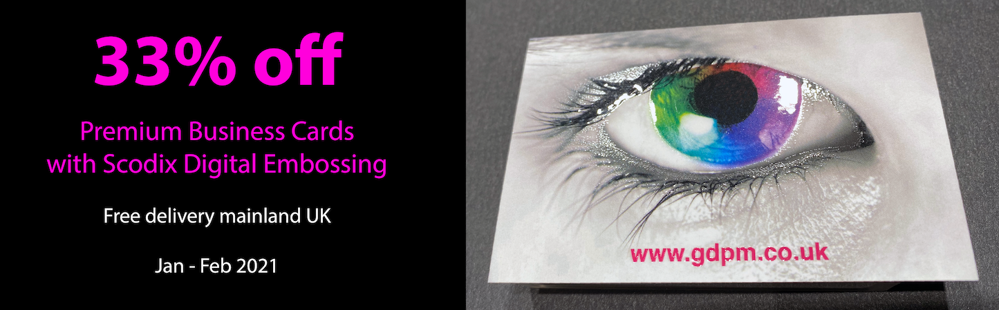 Premium Business Cards with Scodix Digital Embossing