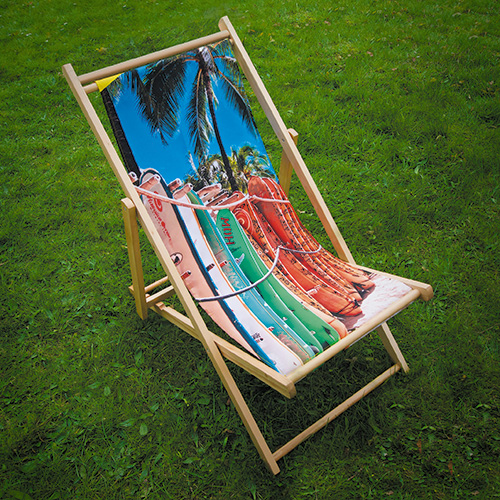 Printed Wooden Deck Chair