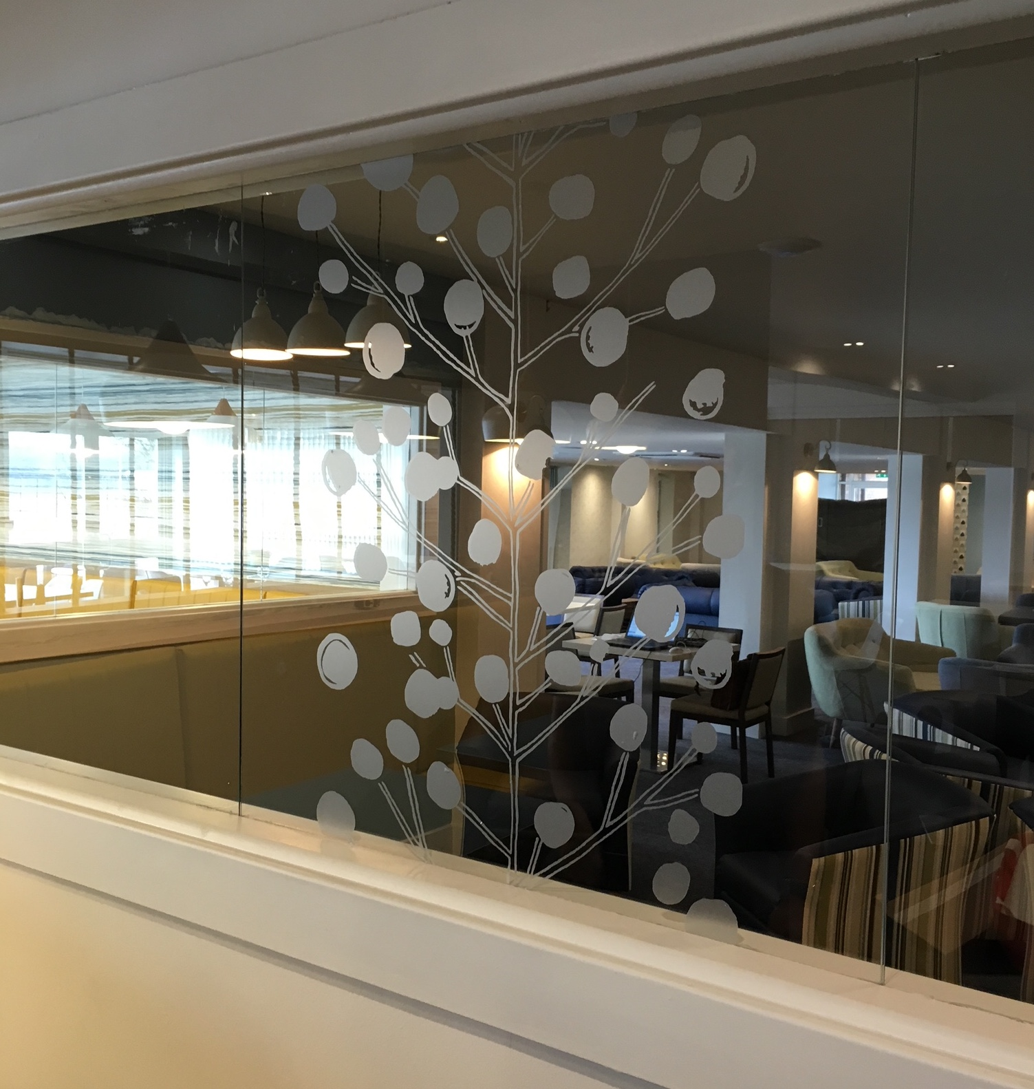 Etched Frosted Vinyl Window Decals