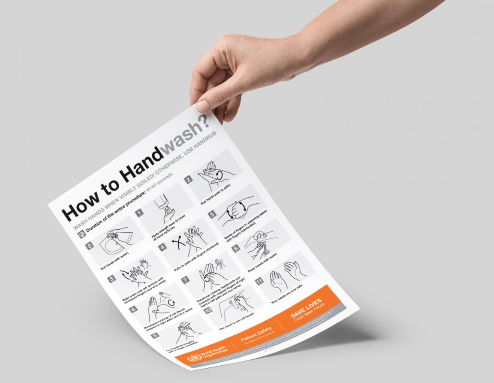 Coronavirus Hand Hygiene Paper Posters