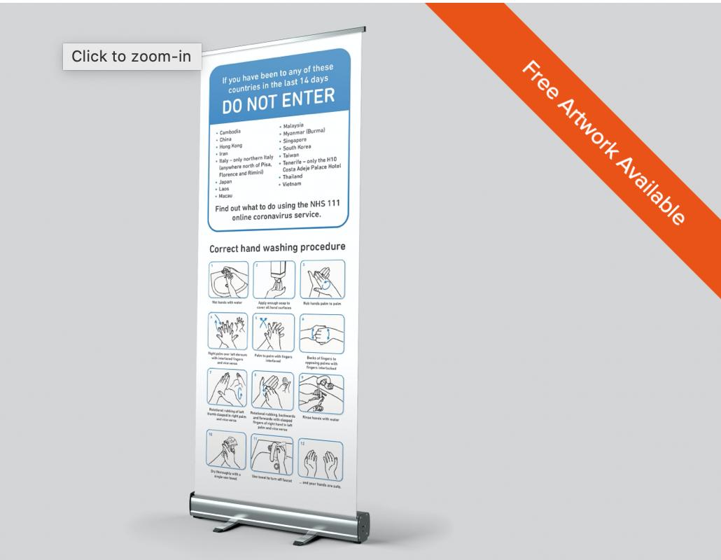 Coronavirus Warning Roller Banner