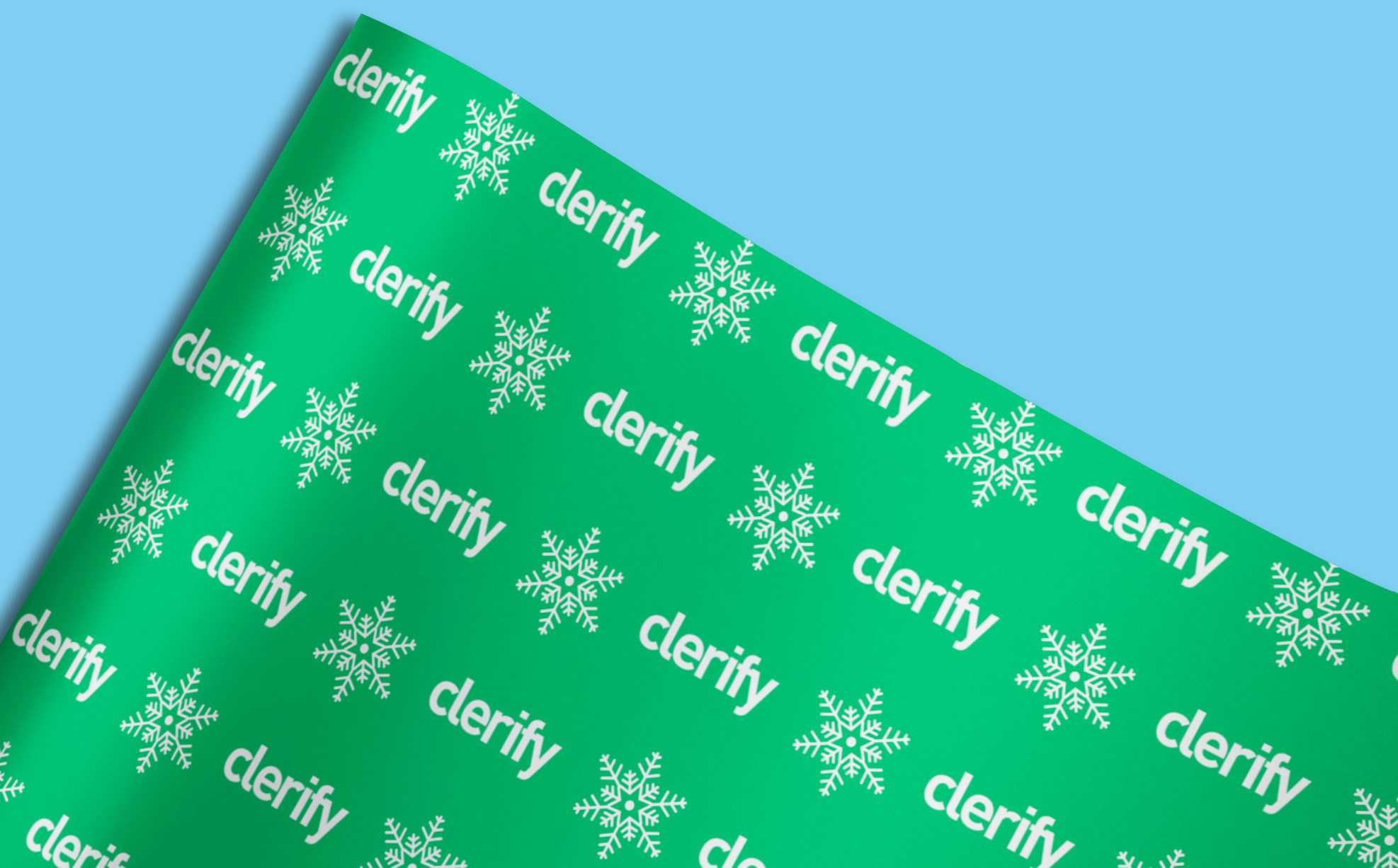 Company bespoke wrapping paper