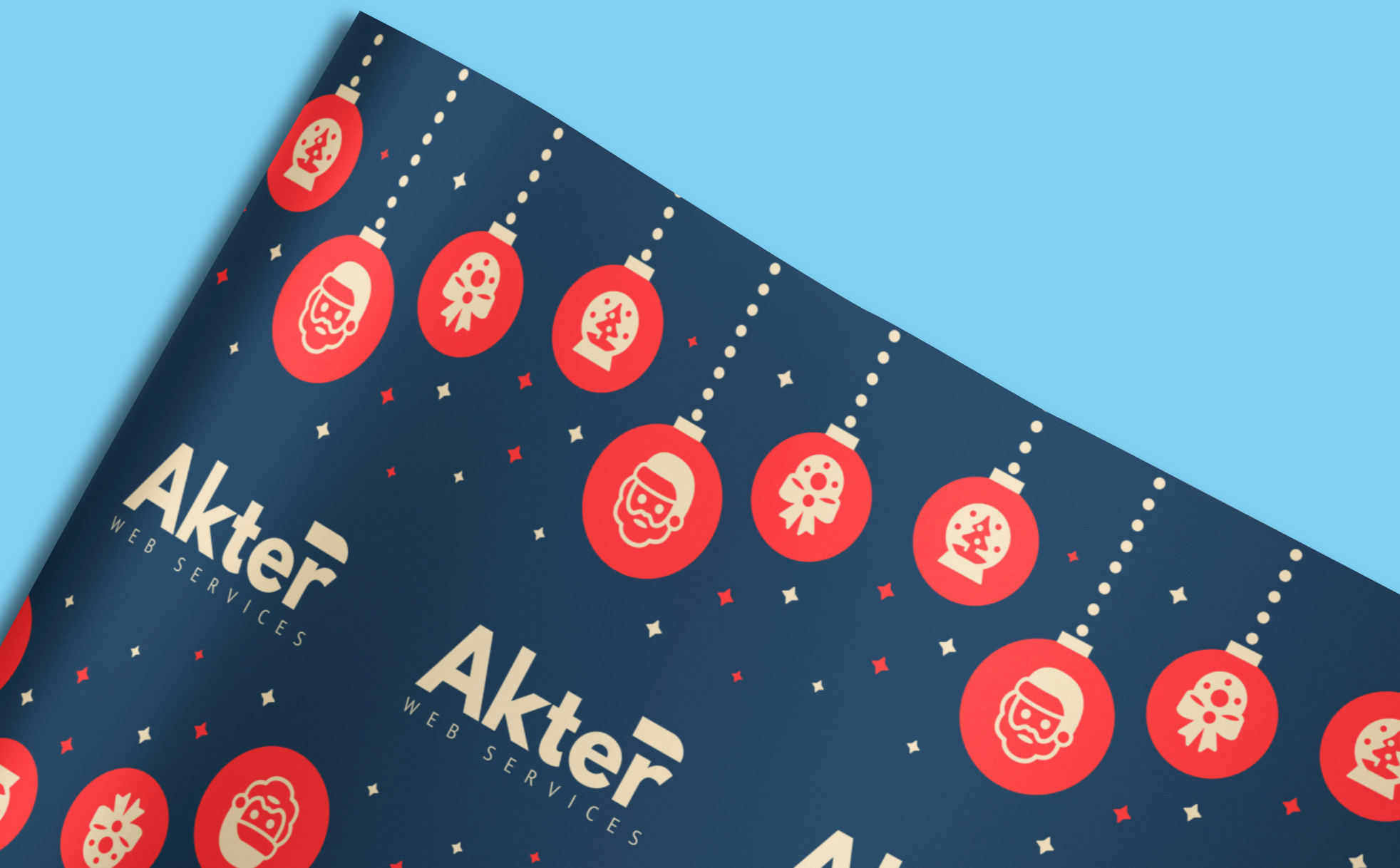 Personalised company branded wrapping paper